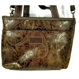 Relic Tooled Leather Shoulder Purse